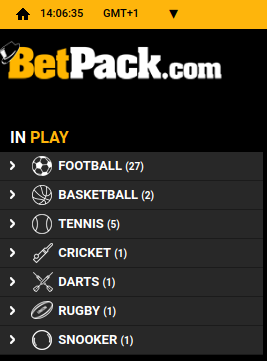 Betpack in-play