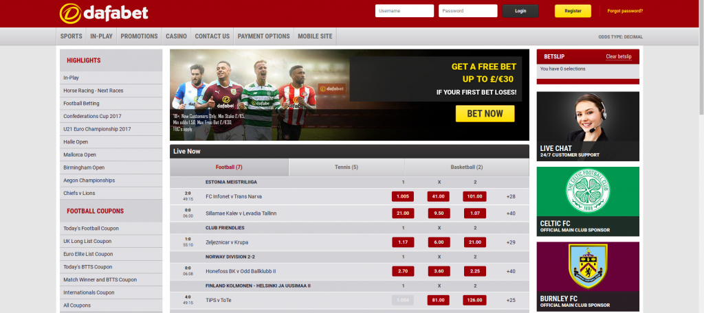 Dafabet website