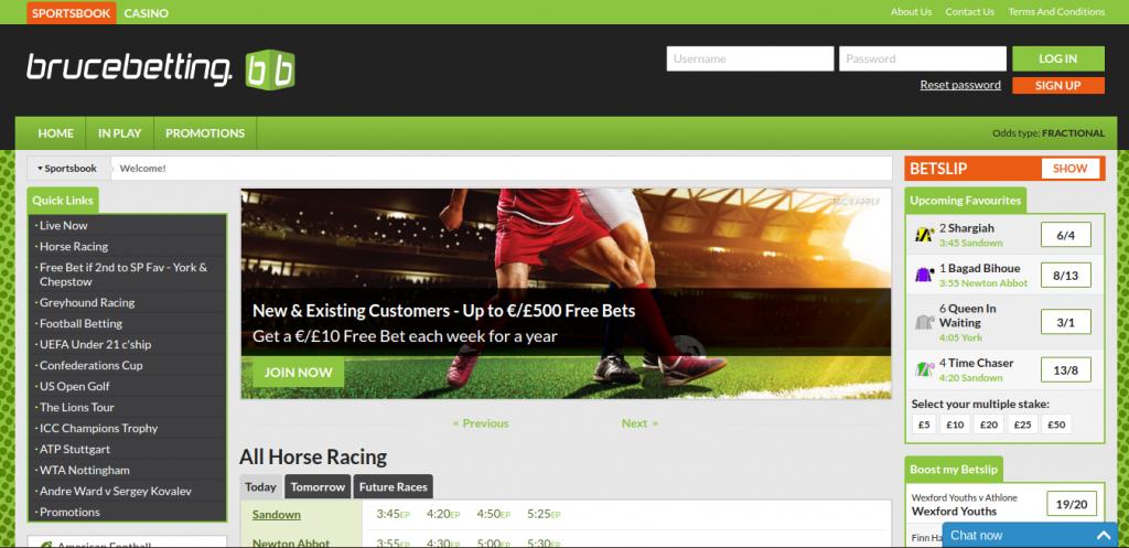Bruce Betting website