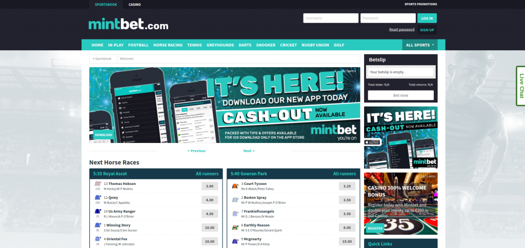 Mintbet website