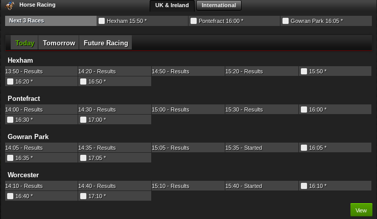 NetBet horse racing