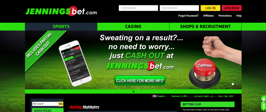 Jenningsbet website