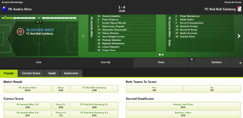 Totesport In-Play