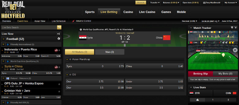 Real Deal Bet Live Betting