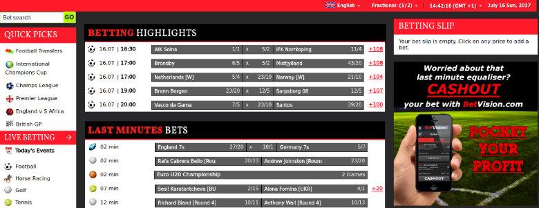 Betvision Sportsbook