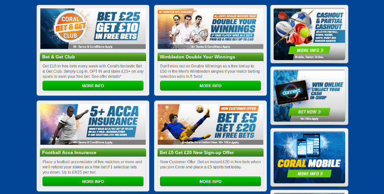 Coral Betting Offers