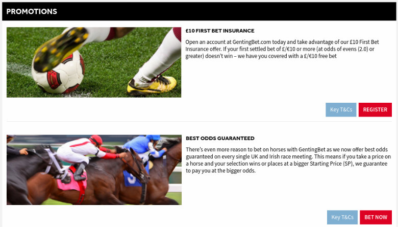 GentingBet Betting Offers