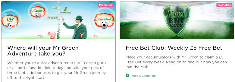 Mr Green Betting Offers