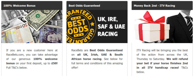 Racebets Betting Offers