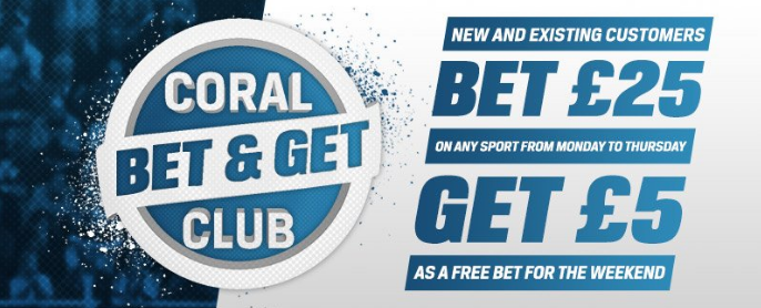 Coral Bet and Get Club