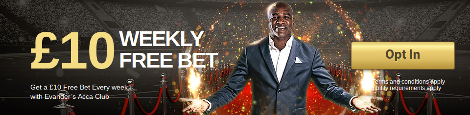 Real Deal Bet Weekly £10 Free Bet