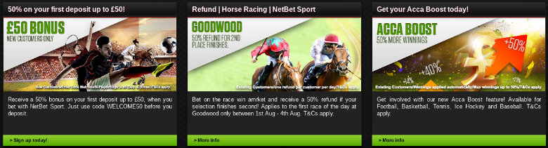 NetBet Betting Offers