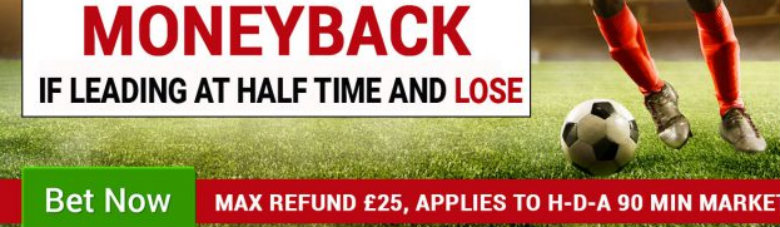 BetMcLean Money Back If Leading At Halftime But Lose