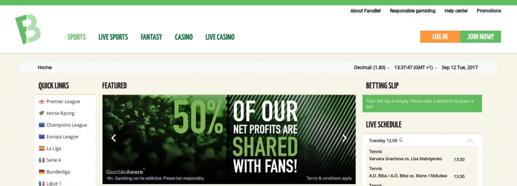FansBet Website