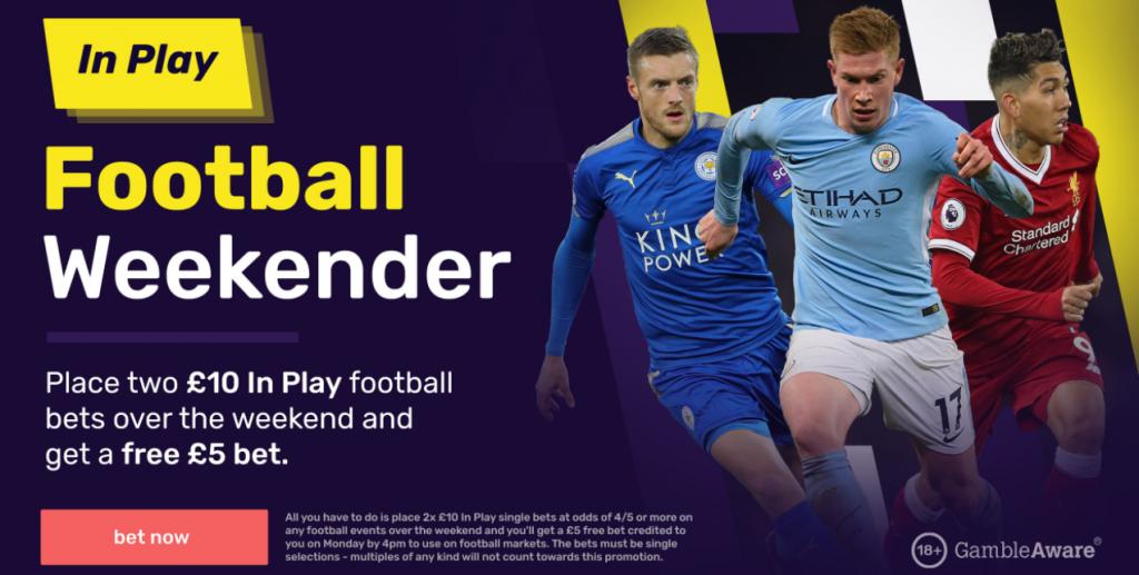 Dabblebet In-Play Football Weekender