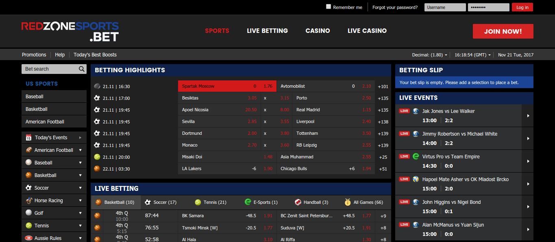 RedZoneSports Website
