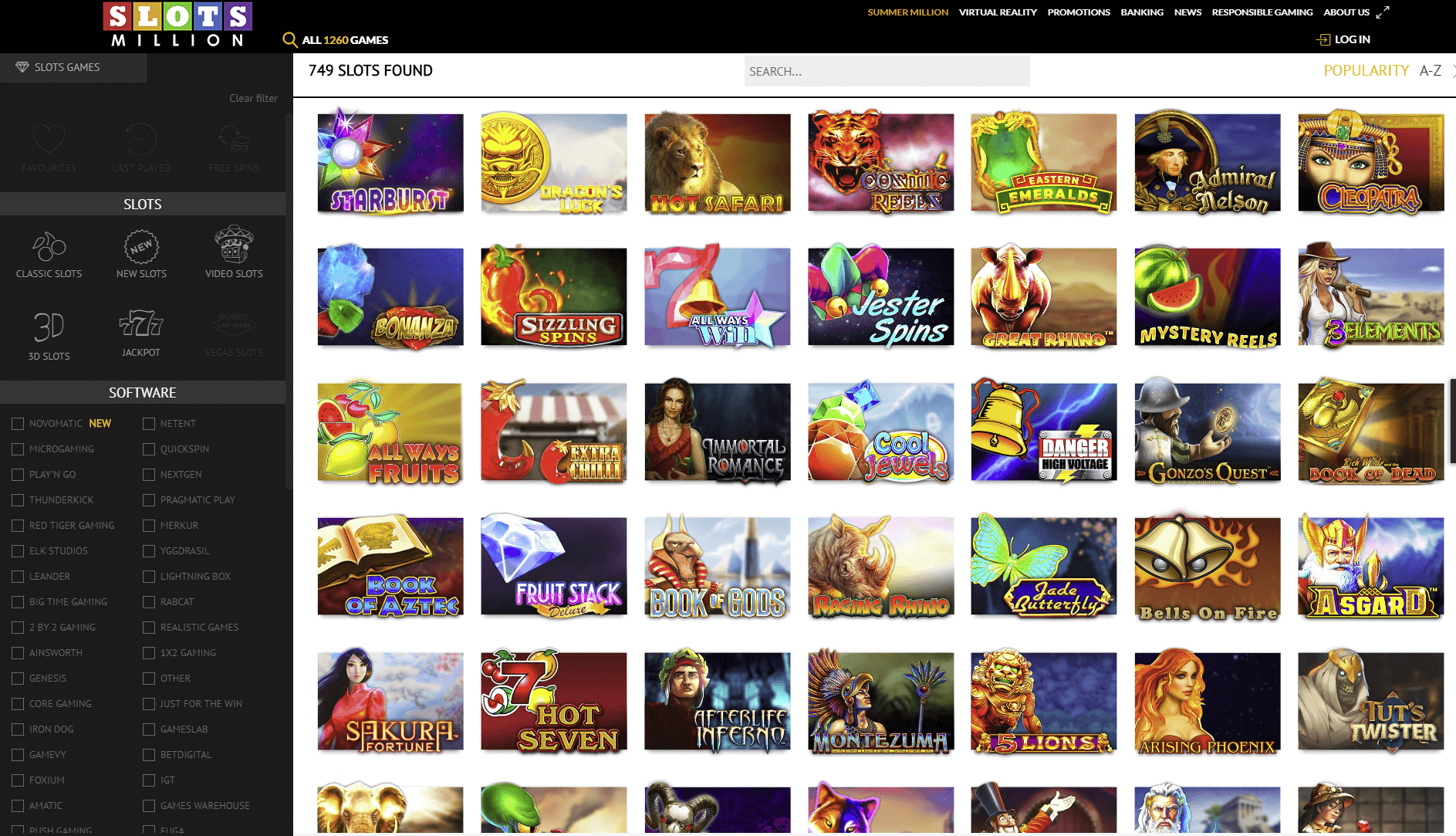 slots million games