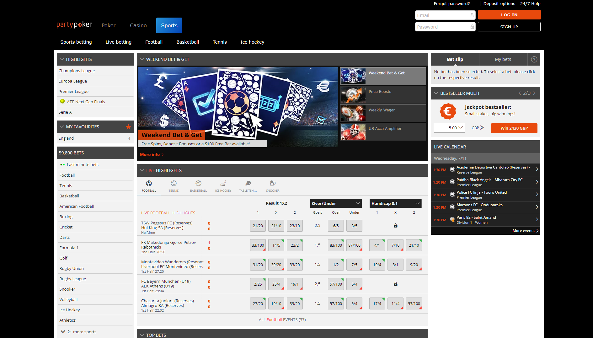party poker sportsbook