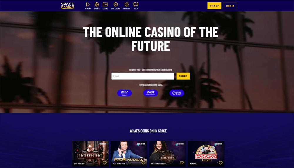 space casino website