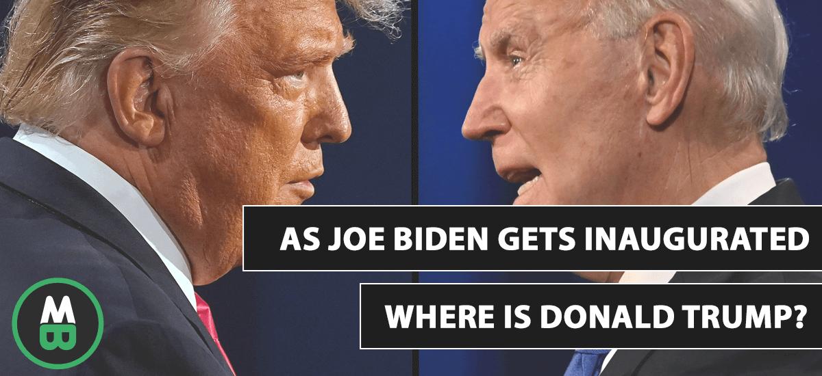 Quando Joe Biden é inaugurado, onde está Donald Trump