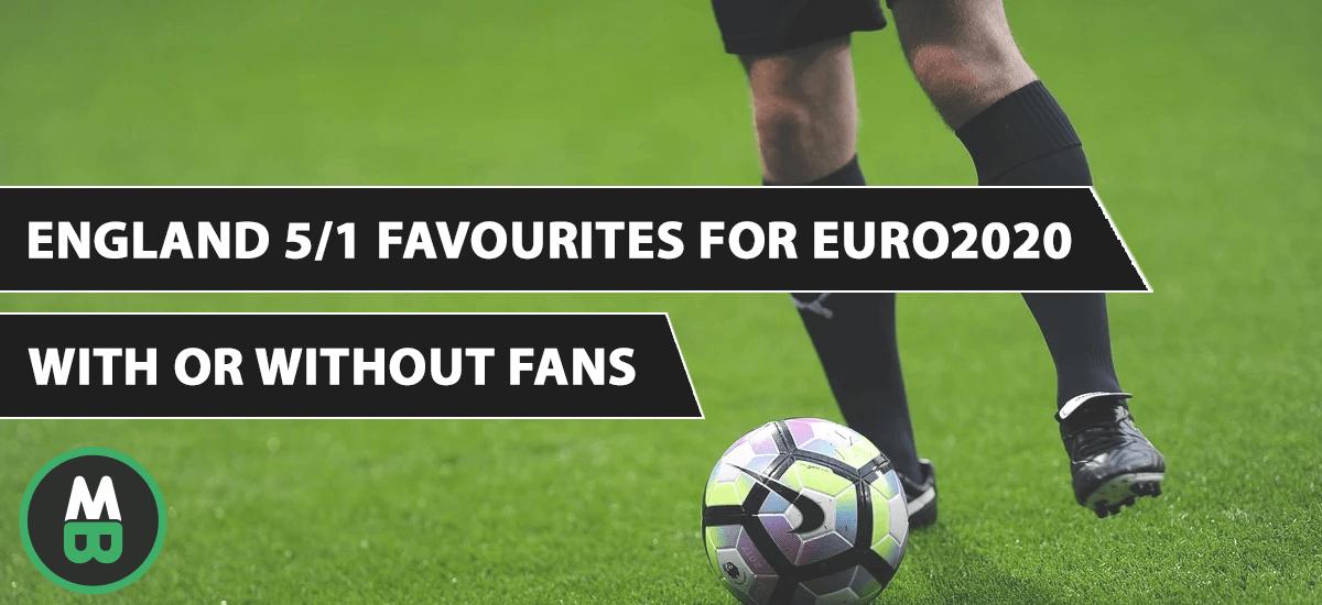 England 5/1 Favourites For Euro2020