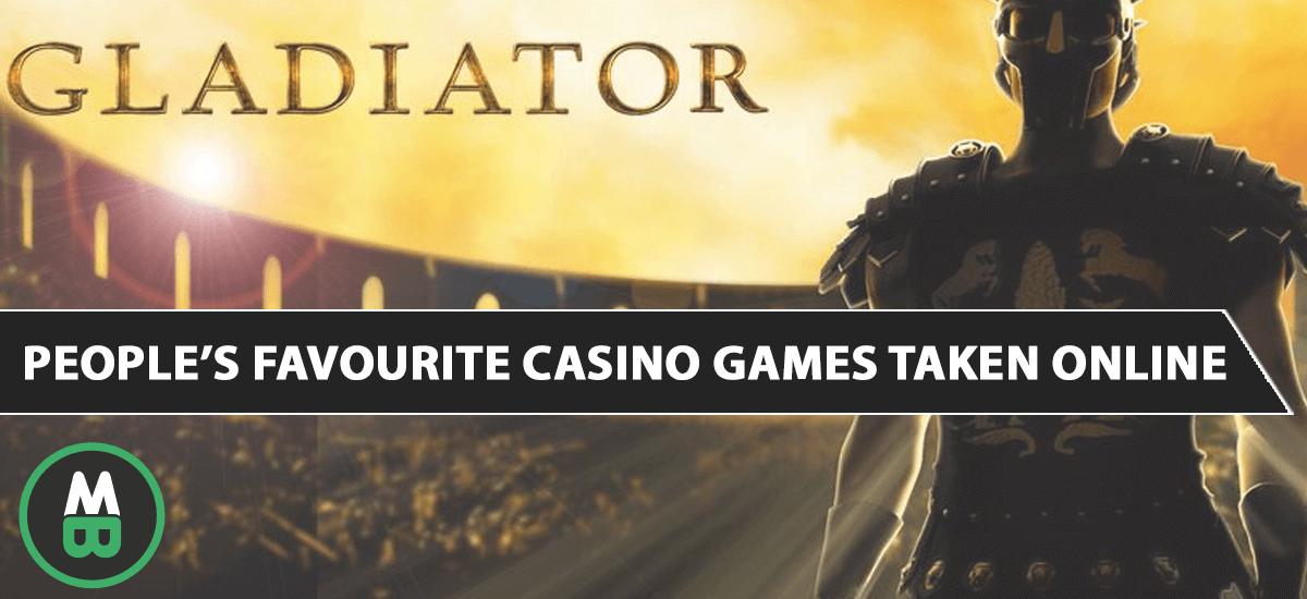 People's favourite casino games taken online